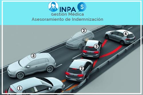 colisión múltiple de coches