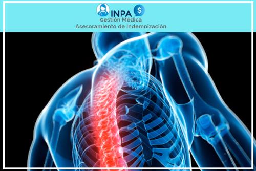 accidente por lesión en la médula espinal