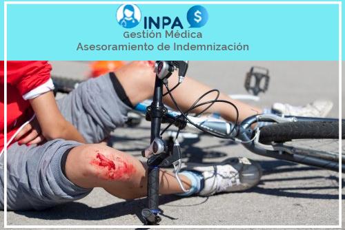 lesiones comunes accidente bicicleta