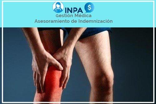 accidente de lesión en la rodilla