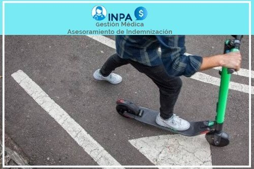 indemnización por accidente de scooter